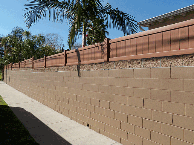 Vinyl Block Wall Extentions Vinyl Solid Fencing