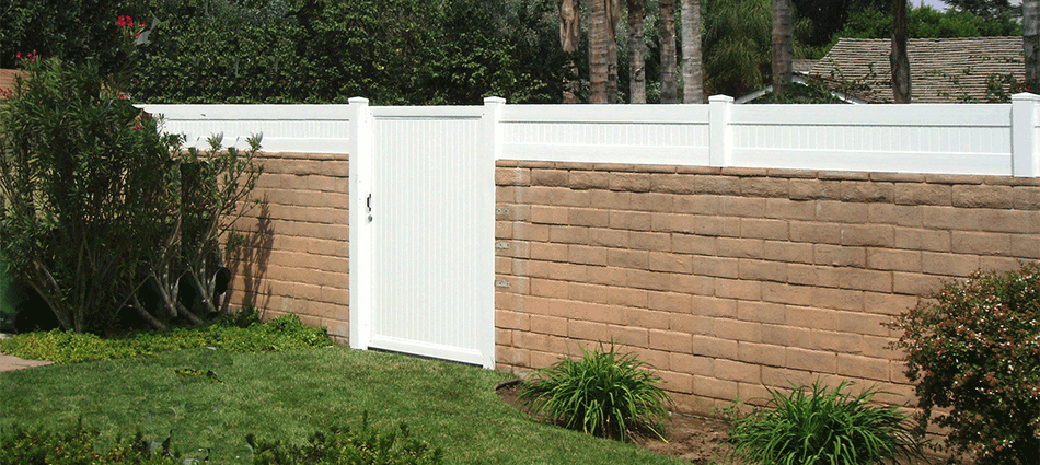 "Block Wall Extension with GateStandard Sizes: 18""- 24""- 30""- 36"" high   Variety colors."