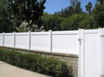 Privacy on Block Wall with Gate