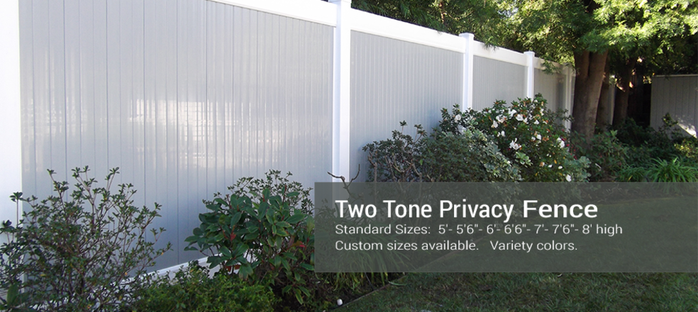 Privacy Fence - 2 tone