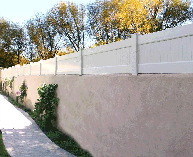Vinyl Block Wall Extentions Vinyl Solid Fencing