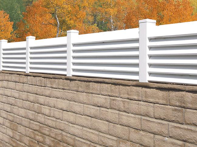 Vinyl Block Wall Extentions - Vinyl Solid Fencing ...