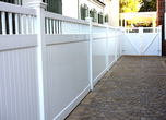 Privacy Fence with Picket Accent w/Gate