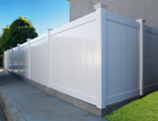 Vinyl Privacy Fencing Solid White